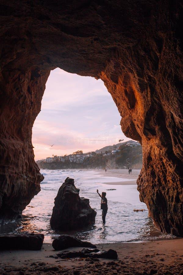 Caves in Laguna stock image