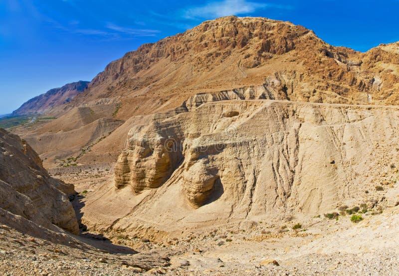 Caves of Qumran, Israel royalty free stock photo