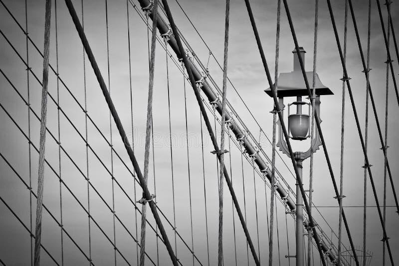 Cavi del ponte di Brooklyn fotografia stock libera da diritti