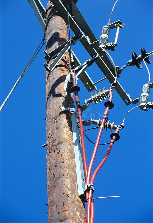 Cavi elettrici elettrici. fotografia stock