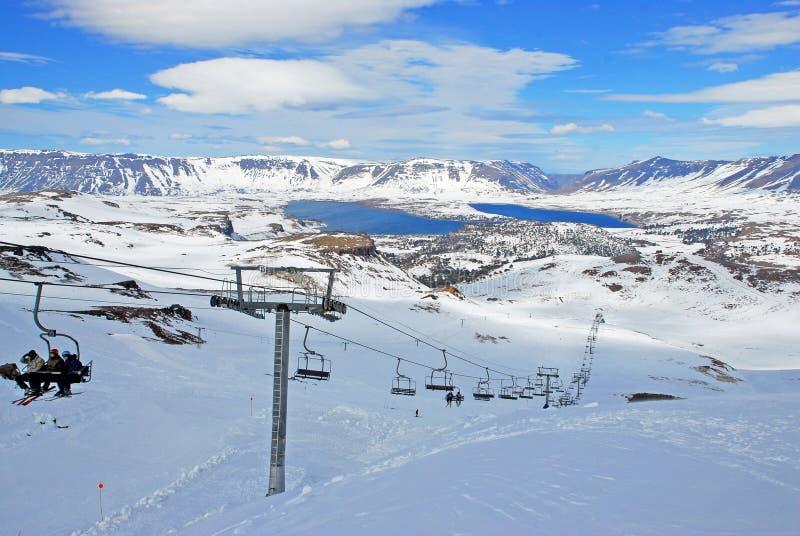 Caviahue Ski Center, Neuquen, Argentinien lizenzfreie stockfotos