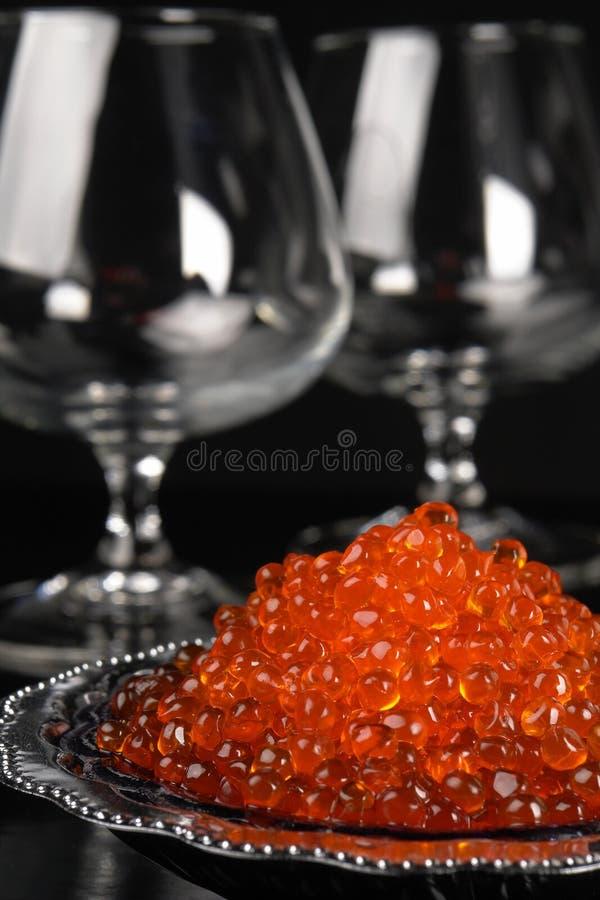 Caviale rosso immagini stock libere da diritti
