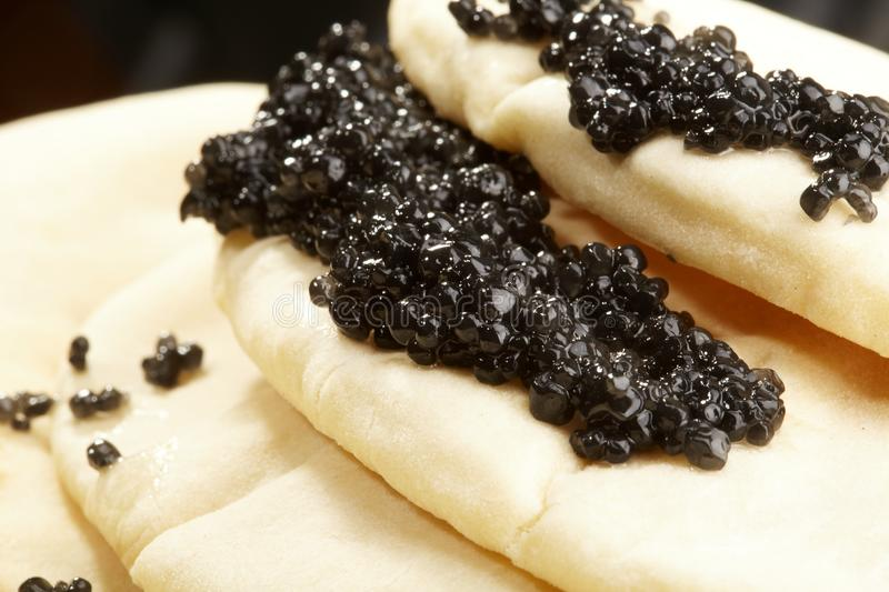 Caviar Black With Pancakes Royalty Free Stock Photography