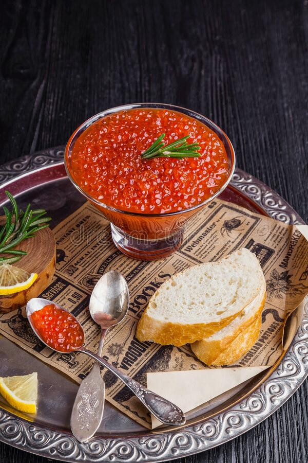 Caviar and bread royalty free stock images