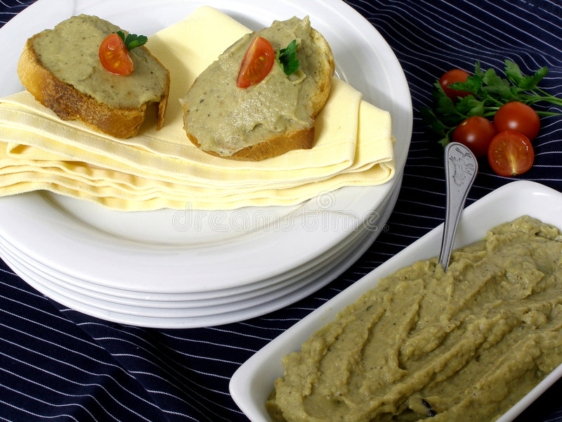 Caviar de la berenjena foto de archivo