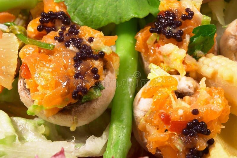 Caviar et saumons fumés 3 photo stock