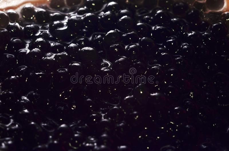 Caviar negro fotos de archivo