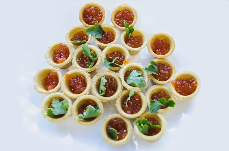 Caviar rouge photographie stock