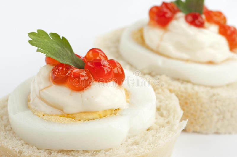 Download Caviar Sandwiches Detail Royalty Free Stock Photography - Image: 23823867