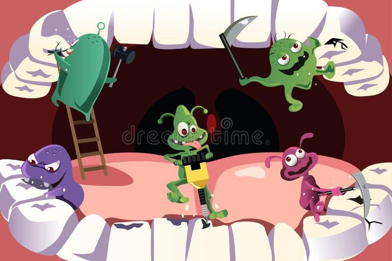 Cavidade dos dentes ilustração do vetor