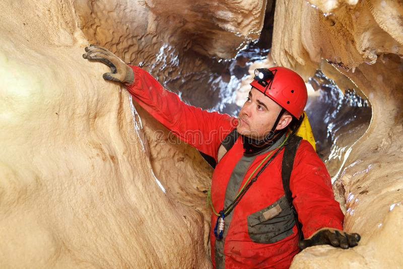 Caving in Spain royalty free stock photography