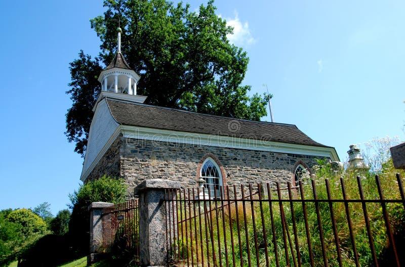 Cavité somnolente, NY : Vieille église 1685 hollandaise photo stock
