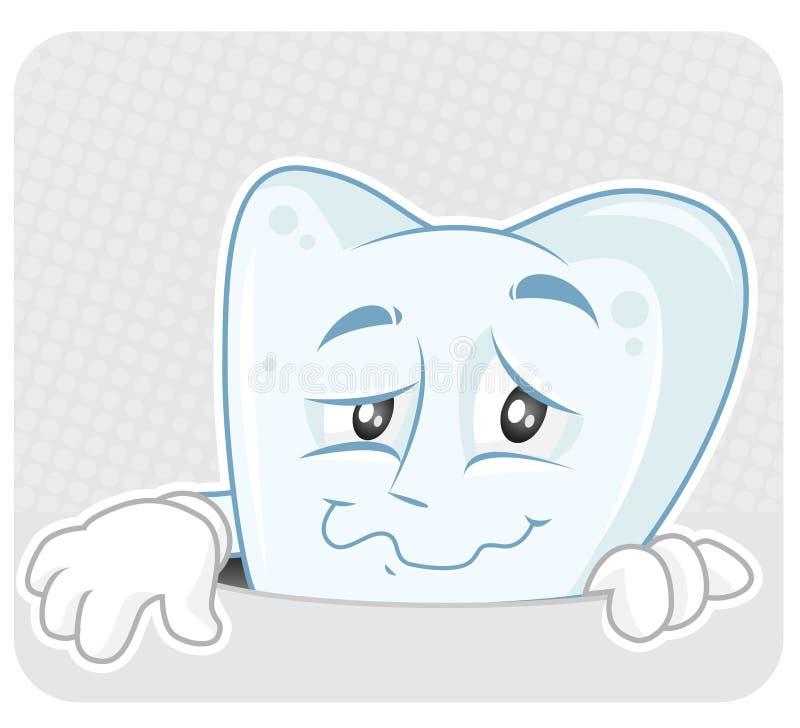 Cavities. Metaphor illustration of tooth cavity stock illustration