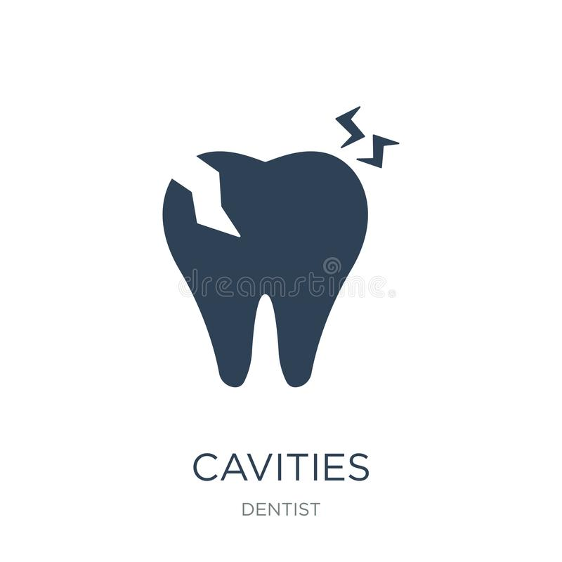 Cavities icon in trendy design style. cavities icon isolated on white background. cavities vector icon simple and modern flat. Symbol for web site, mobile, logo vector illustration
