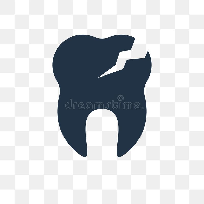 Cavities vector icon isolated on transparent background, Cavities transparency concept can be used web and mobile. Cavities icon royalty free illustration