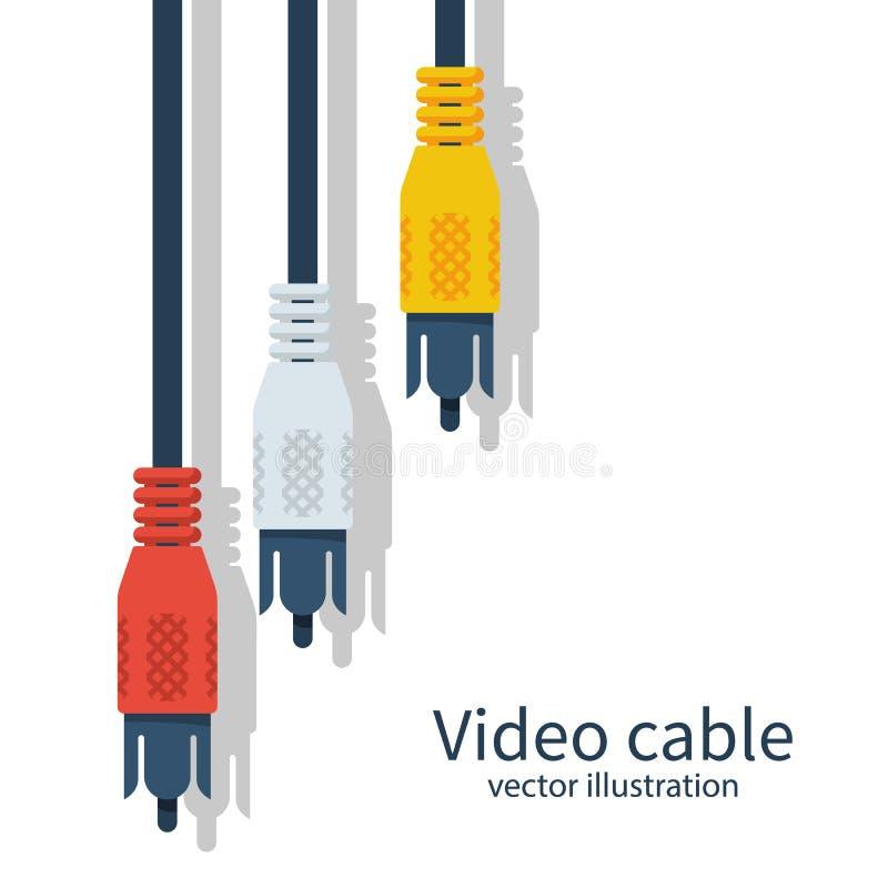 Cavo della TV il Audio-video tappa il cavo analogico royalty illustrazione gratis