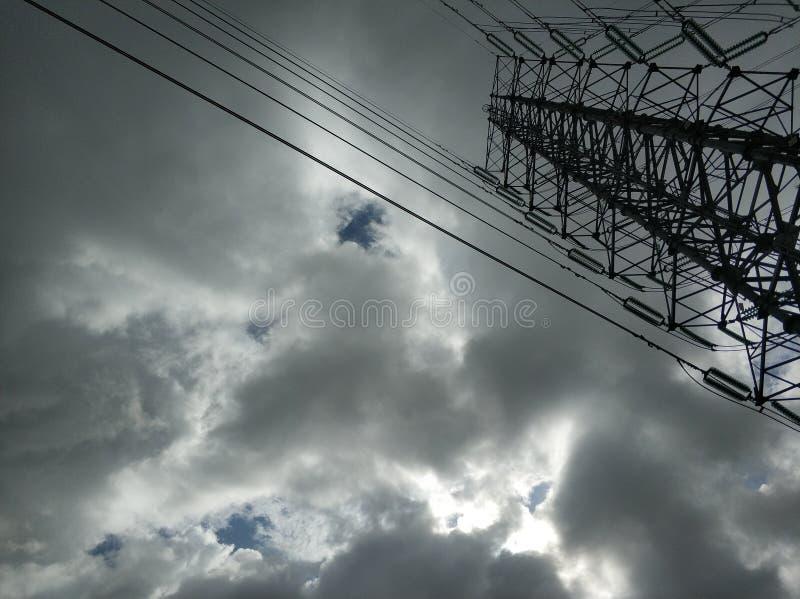 Cavo e cielo immagini stock libere da diritti