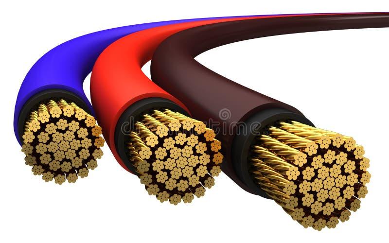 Cavo elettrico di rame illustrazione di stock