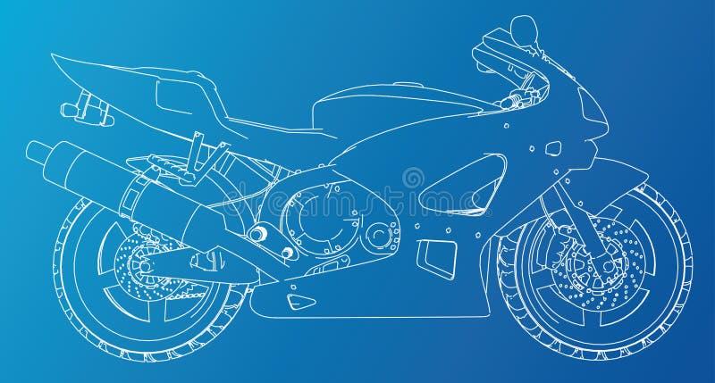 Cavo-struttura tecnica della bici di sport Formato EPS10 Vettore creato di 3d royalty illustrazione gratis