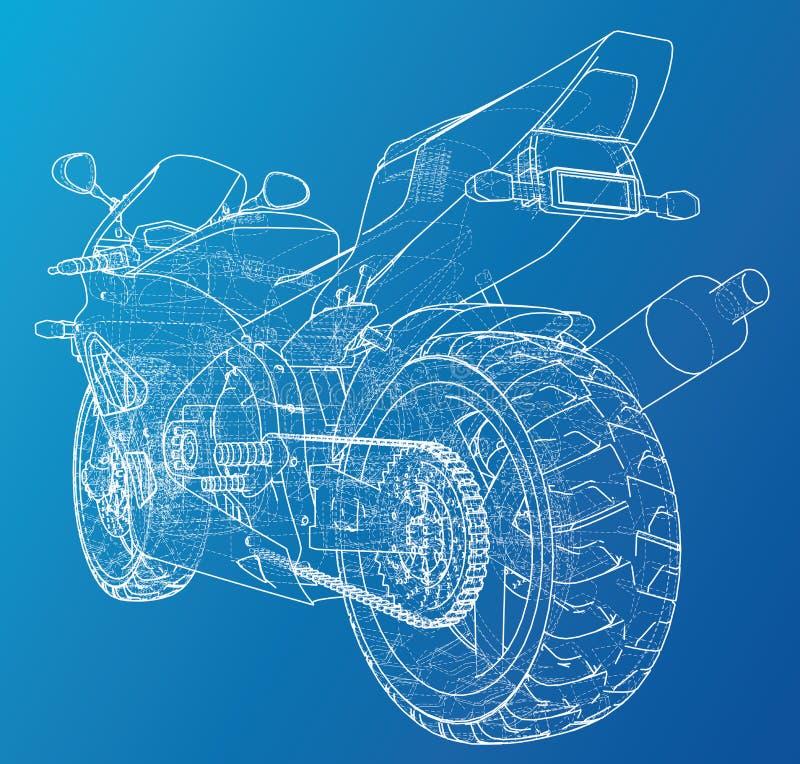 Cavo-struttura tecnica della bici di sport Formato EPS10 Vettore creato di 3d illustrazione vettoriale