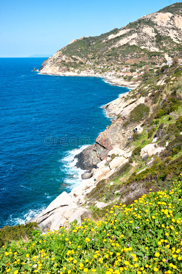 Cavoli beach, Isle of Elba, Italy stock photo