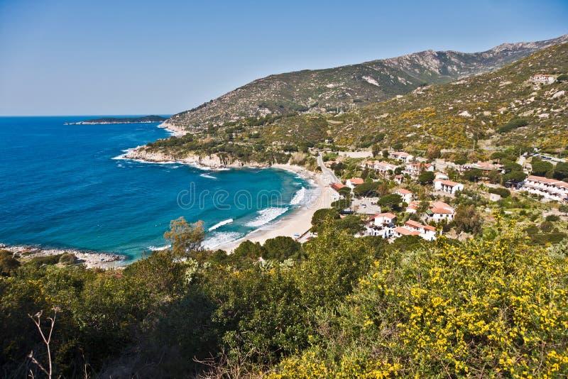 Cavoli beach, Marina di Campo, Isle of Elba, Italy stock images