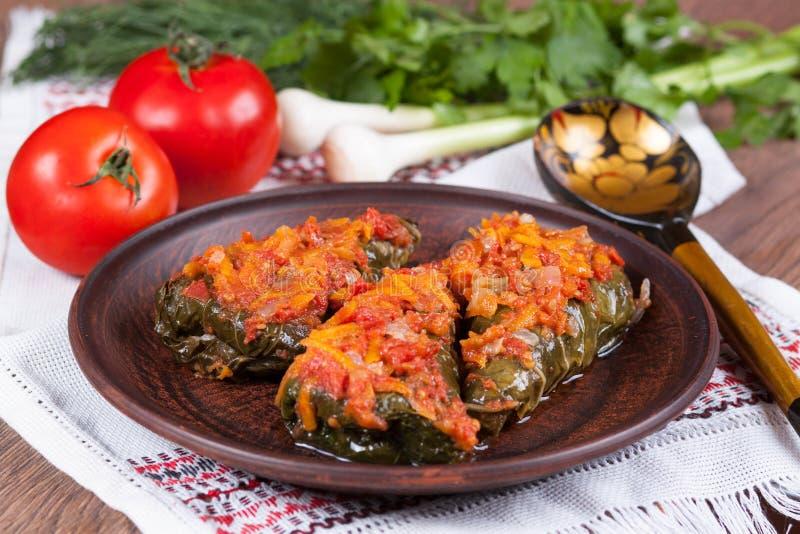 Download Cavolo Farcito Con Salsa Al Pomodoro Su Un Piatto Fotografia Stock - Immagine di aglio, cavolo: 56884222