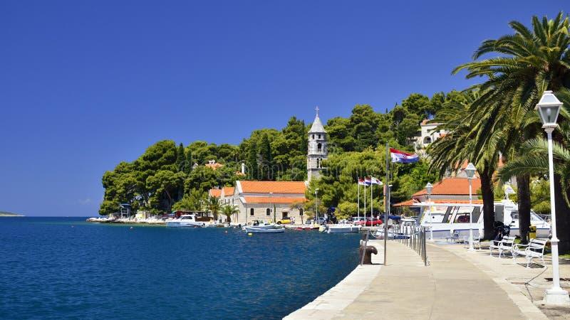 Cavtat Dalmatia - Kroatien fotografering för bildbyråer