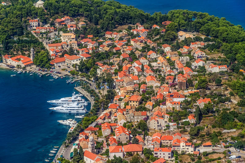 Cavtat Kroatien royaltyfri fotografi