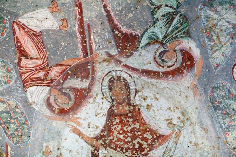 Cavusin教会在卡帕多细亚,土耳其 免版税库存图片