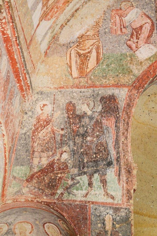 Cavusin-Kirche in Cappadocia, die Türkei lizenzfreies stockfoto