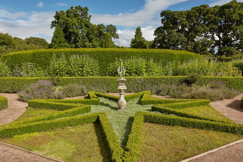 Cawdor Castle surrounded by its beautiful gardens near Inverness, Scotland stock photo