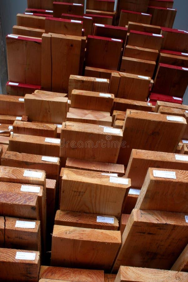 Cawp gestapeld hout stock afbeelding