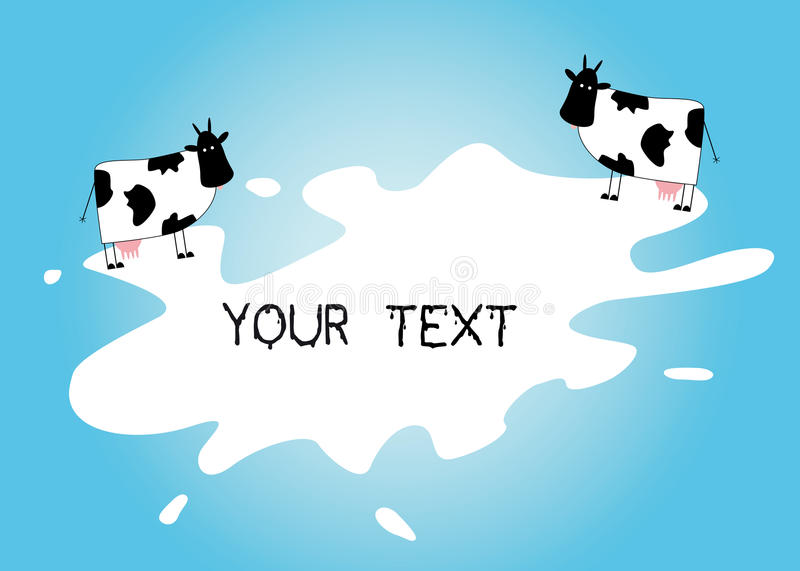 Download Caws on the splashed milk stock vector. Illustration of care - 27779074