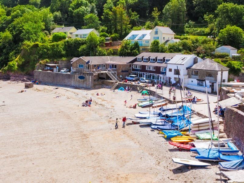 Cawsand Beach Cornwall stock image