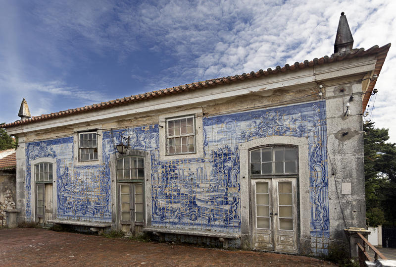Caxias Royal Palace I. Ruins of the 18th century Royal Palace of Caxias, Portugal stock photo