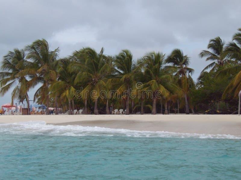 Cay Sombrero bij het Nationale Park van Morrocoy stock afbeelding