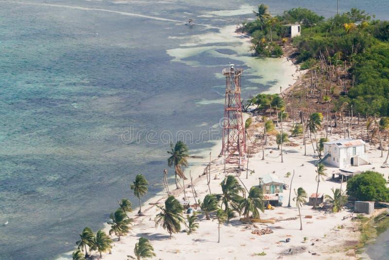 Caye de phare, Belize image stock
