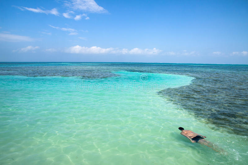 Caye doszczelniacz, Belize fotografia royalty free