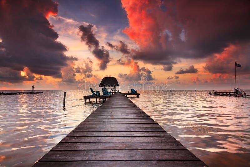 Caye doszczelniacz Belize zdjęcia stock