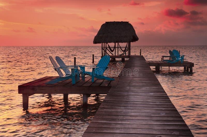 Caye doszczelniacz Belize zdjęcie stock