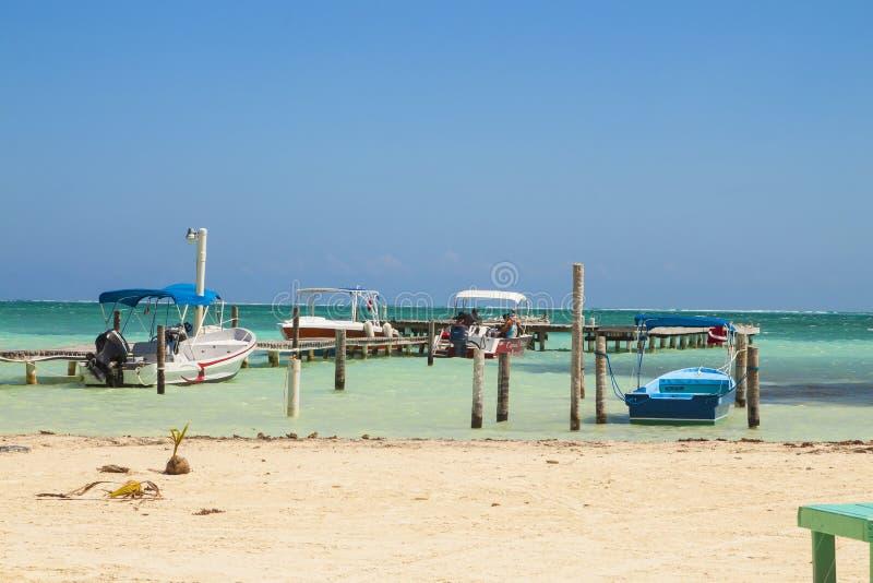 Caye doszczelniacz, Belize, Ameryka Środkowa zdjęcie royalty free
