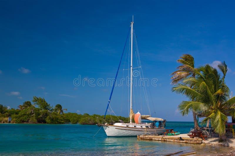 Caye Kalfaterer-Insel lizenzfreies stockfoto