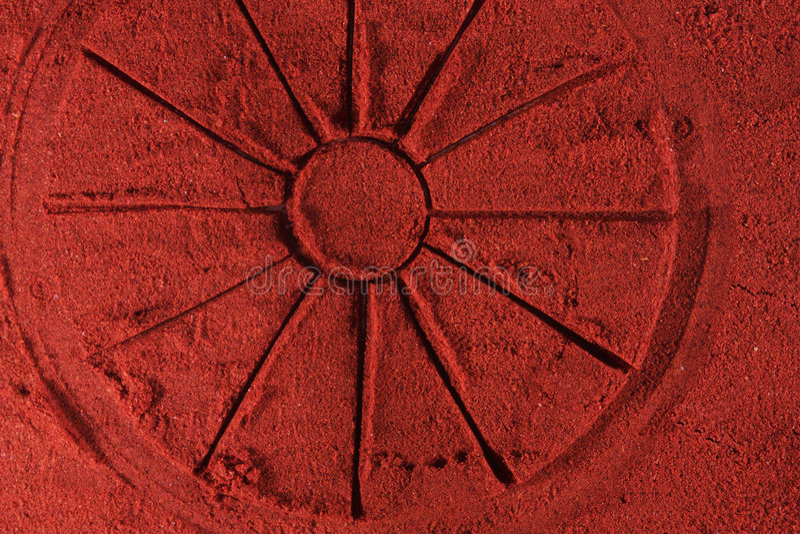 cayenne круглый стоковое изображение rf
