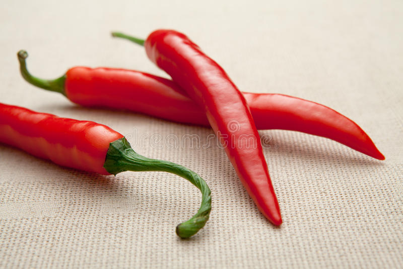 cayenne chili zakończenia świeża gorącego pieprzu czerwień gorący obraz stock