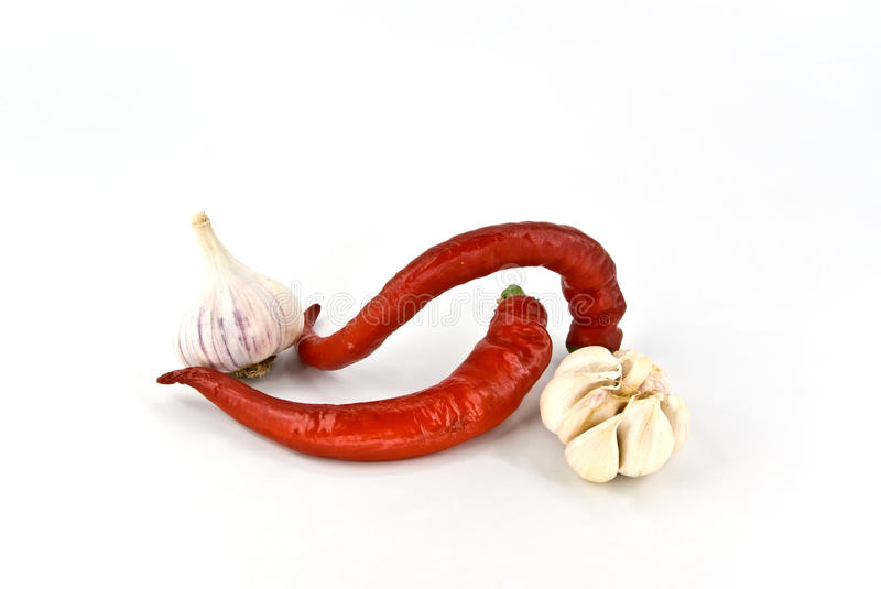 Download Cayenne with garlic stock image. Image of vertical, burning - 15528699