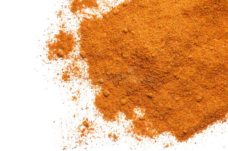 Cayenne ground pepper isolated on white. Background stock image