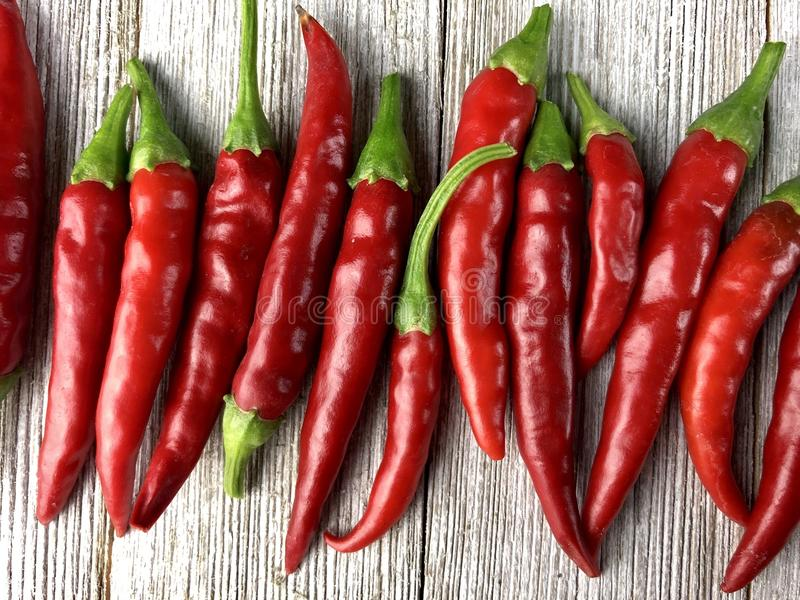 Cayenne peppers stock photos