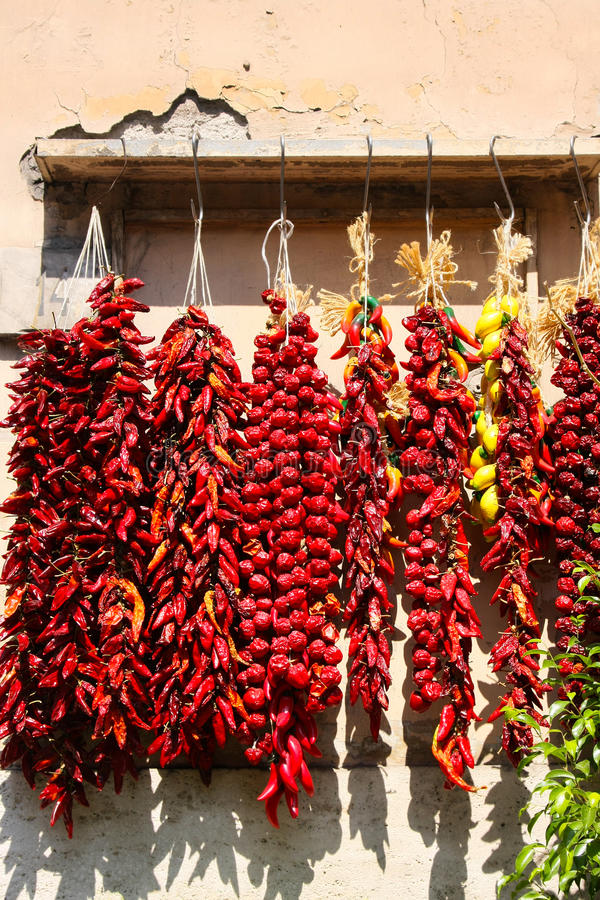 Cayenne in a shop of Naples royalty free stock image