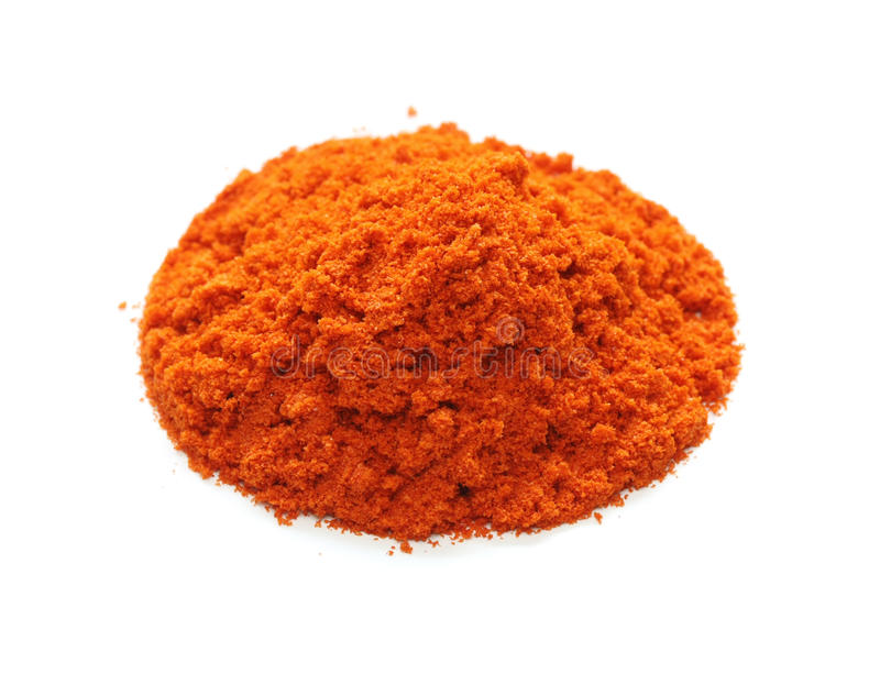 Cayennepeper, Spaanse peper, kruid stock afbeelding